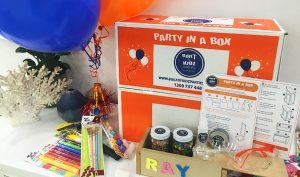 DIY kids activities party in a box woodworking