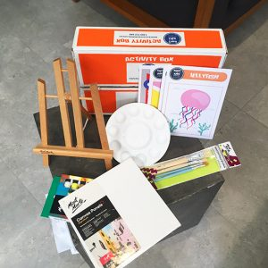 DIY kids activities box for young artists